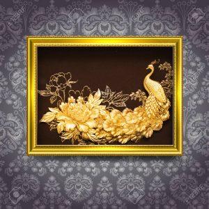 Bộ sưu tập Hoa mẫu đơn và Chim công